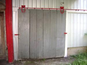 door on shanty
