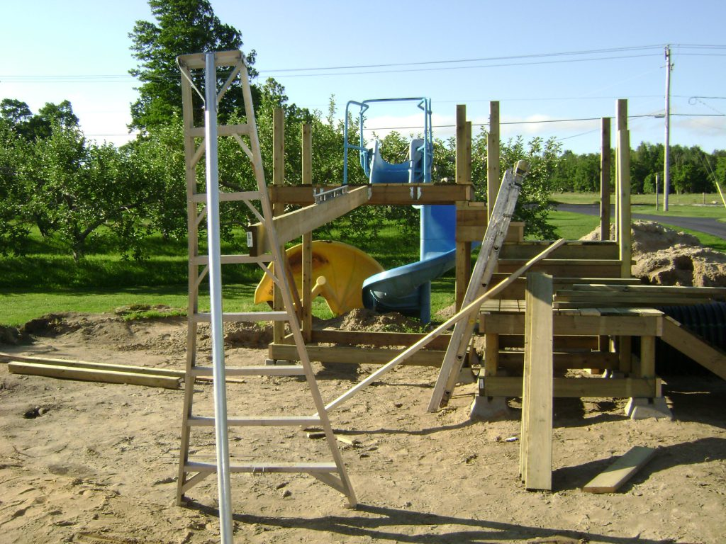Getting height for play set