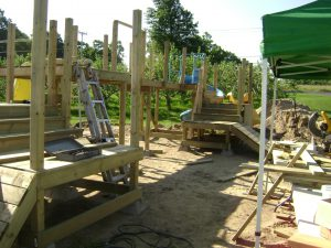 Bridge being set up for play set