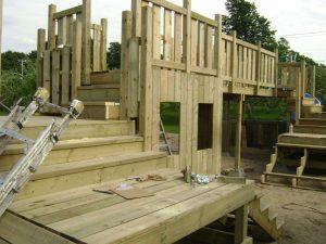 Supports for bridge railings
