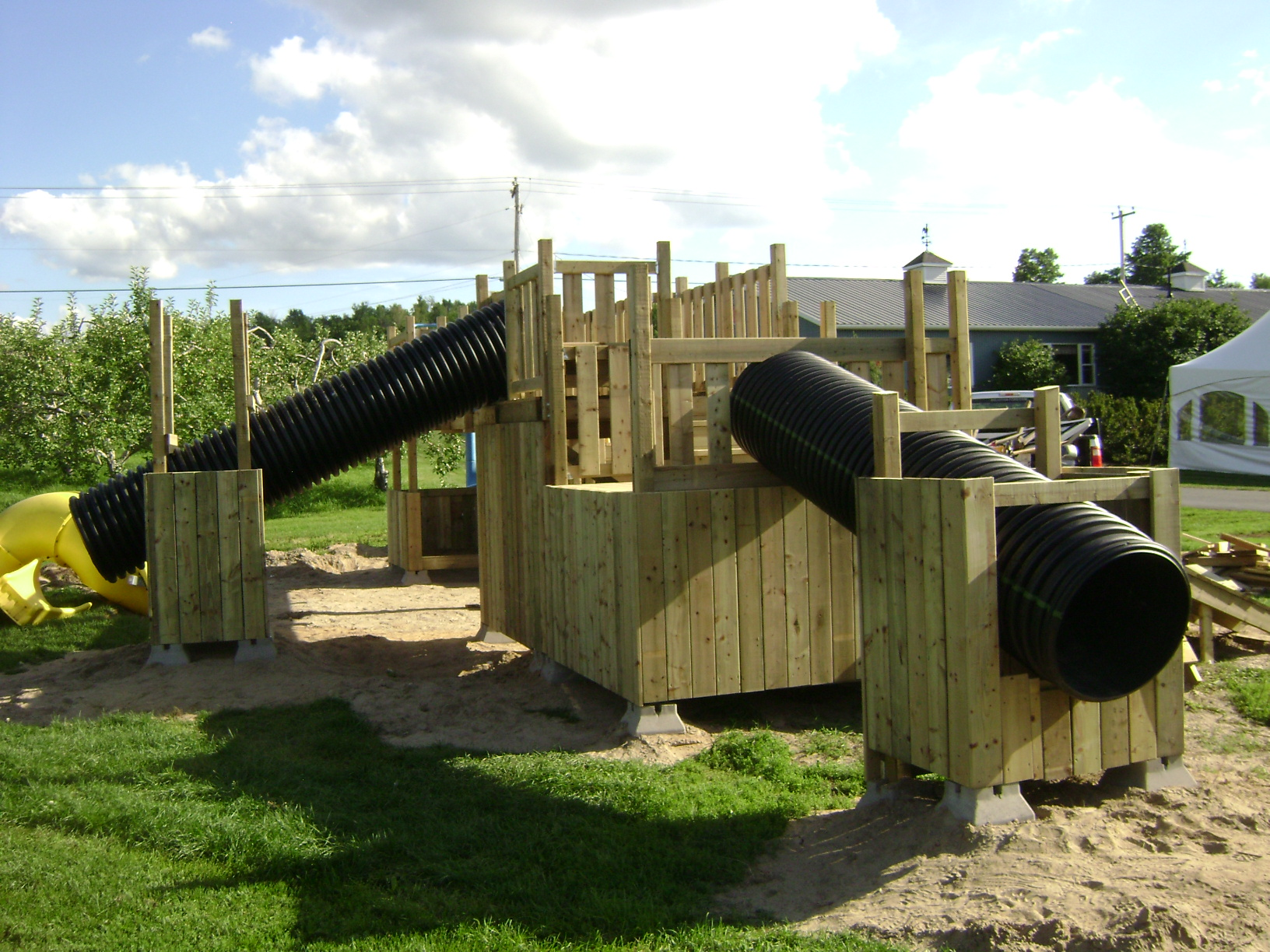 Slides supported for playset
