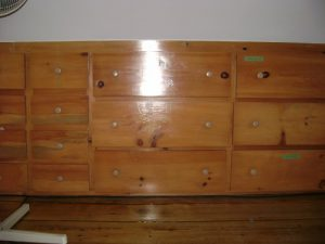Drawers for sloped ceiling